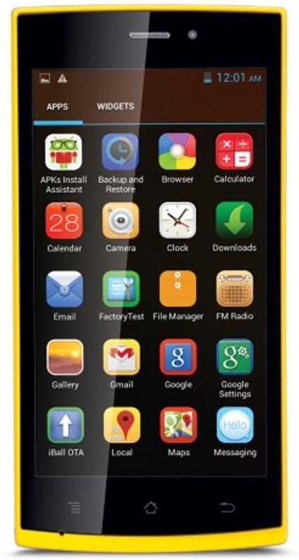 iBall Andi 4.5P Glitter (Yellow, 4 GB)(512 MB RAM)