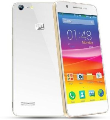 Micromax Canvas Hue (white/gold, 512 MB)