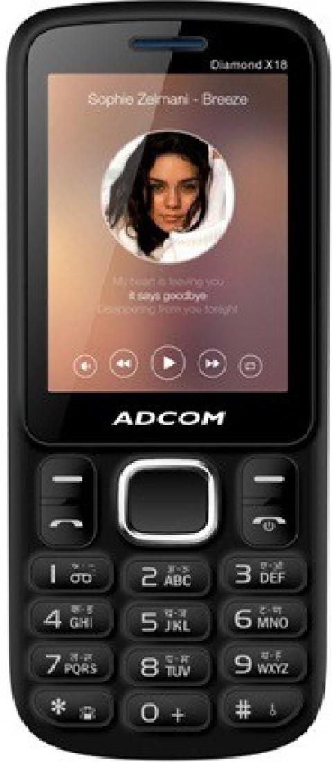 Adcom X18 (DIAMOND) Dual Sim Mobile- Black & Blue(Black, Blue)