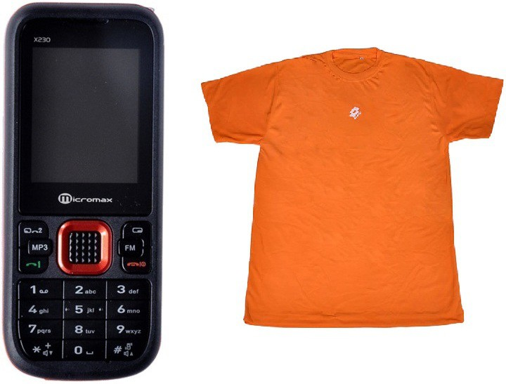 Micromax MMX X230 with Lotto T-Shirt(Black)