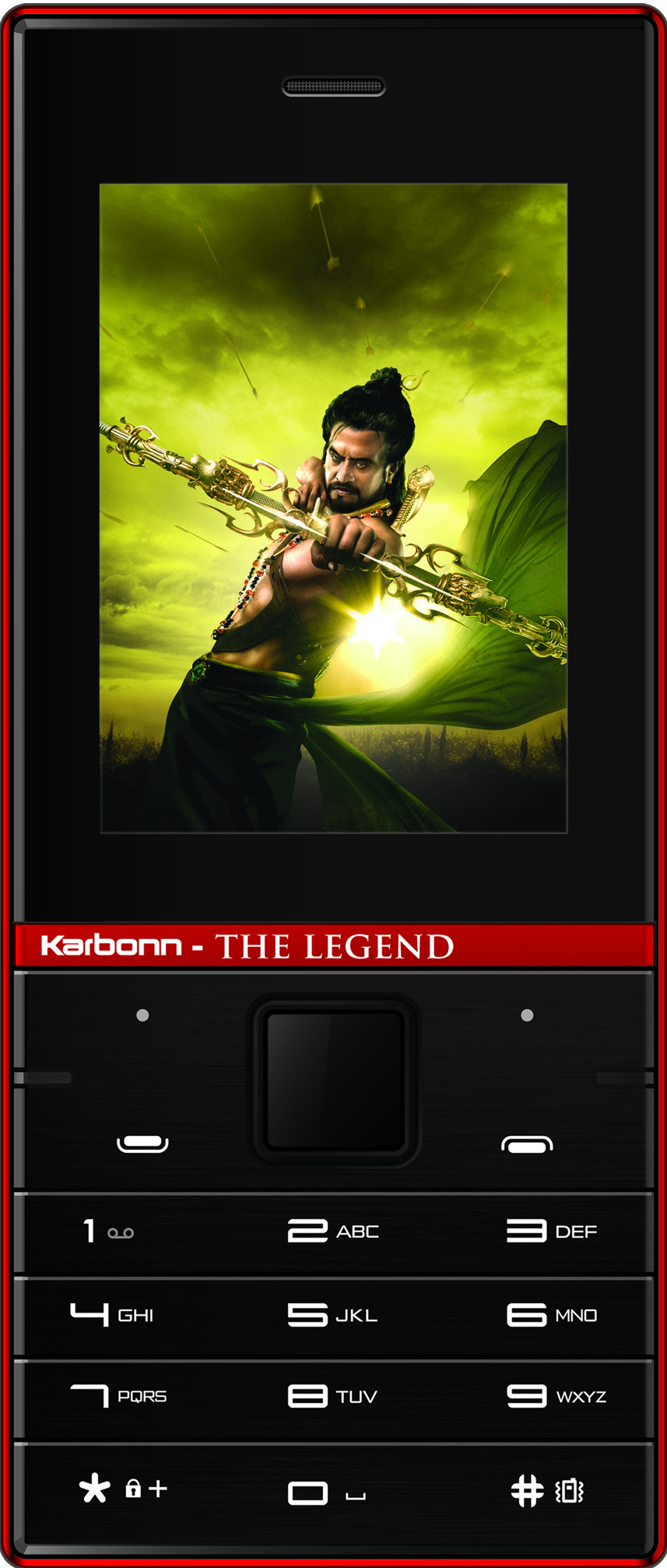 Karbonn Kochadaiiyaan The Legend 2.4(Black and Red)