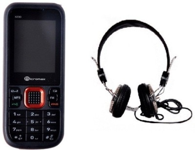 Micromax MMX X230 with Envent Headphone (Black, )