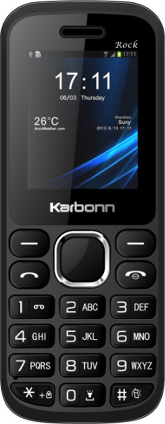 Karbonn K1 Rock(Black and Silver)