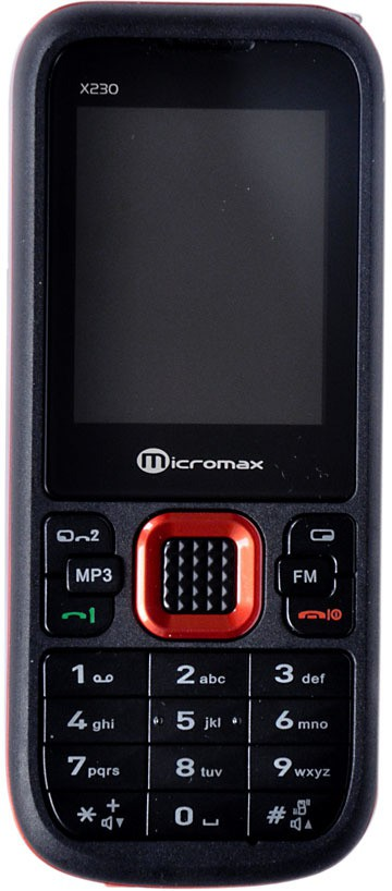 Micromax Mmx X230(Black, Red)