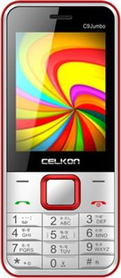 Celkon C9 Jumbo (White & Red, )