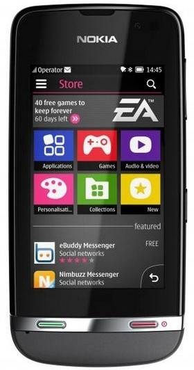 Nokia Asha 311 (Dark Grey, 140 MB)(128 MB RAM)
