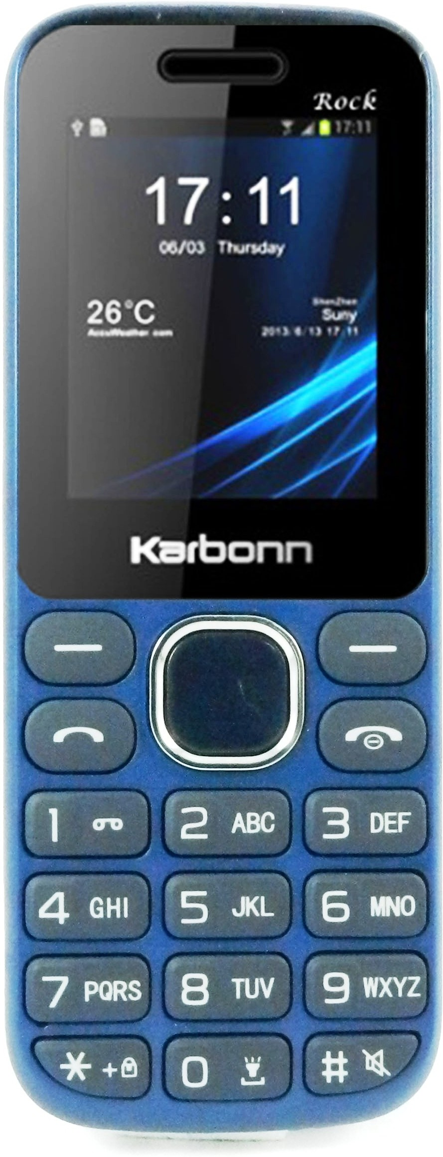 Karbonn K1 Rock(Blue and Silver)