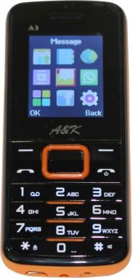 A&K Bar Phone A 3(Black, Orange)