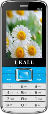 I KALL k-34 dual sim mobile with torch light-Blue (2.4 inch)