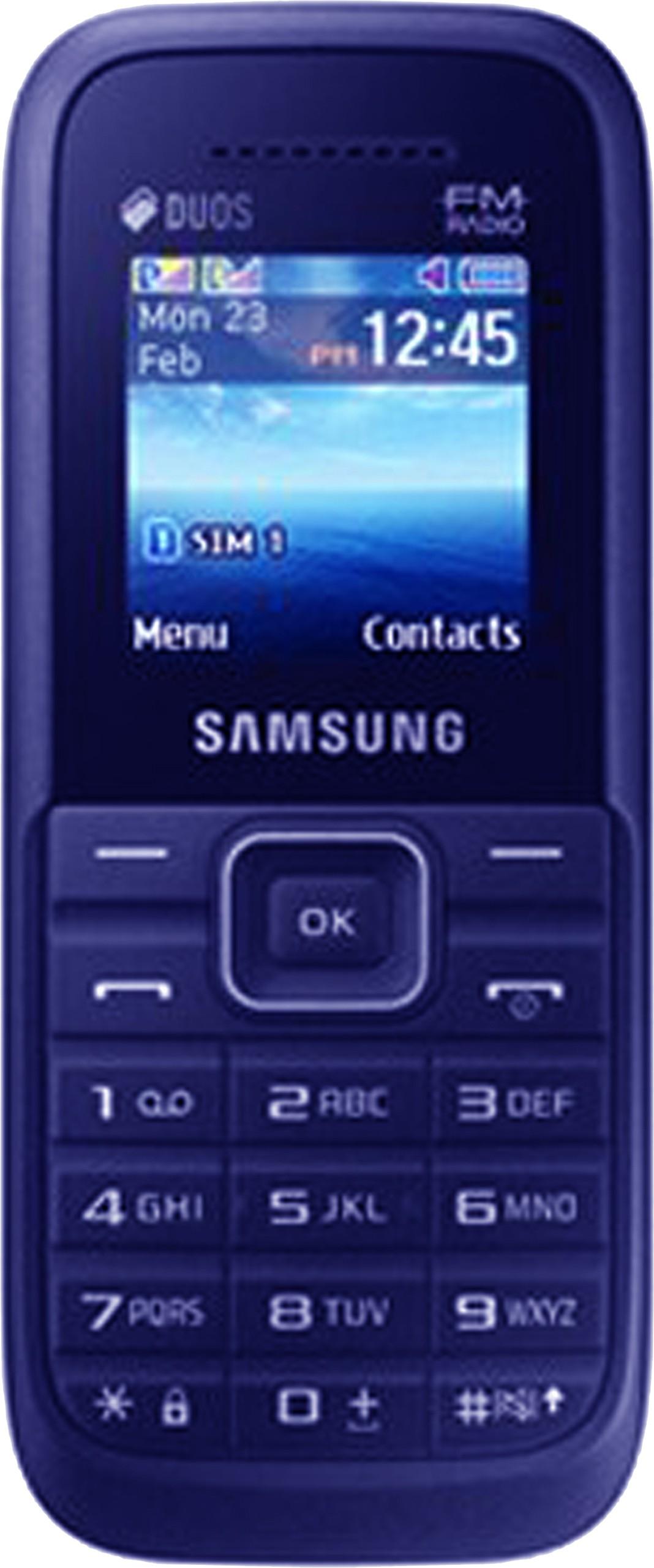 Samsung e1270 black price in india buy samsung e1270 black online on - 13 Samsung Guru Fm Plus Sm B110e D Dark Blue Samsung