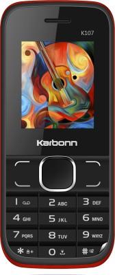 Karbonn K107(Black & Red) image