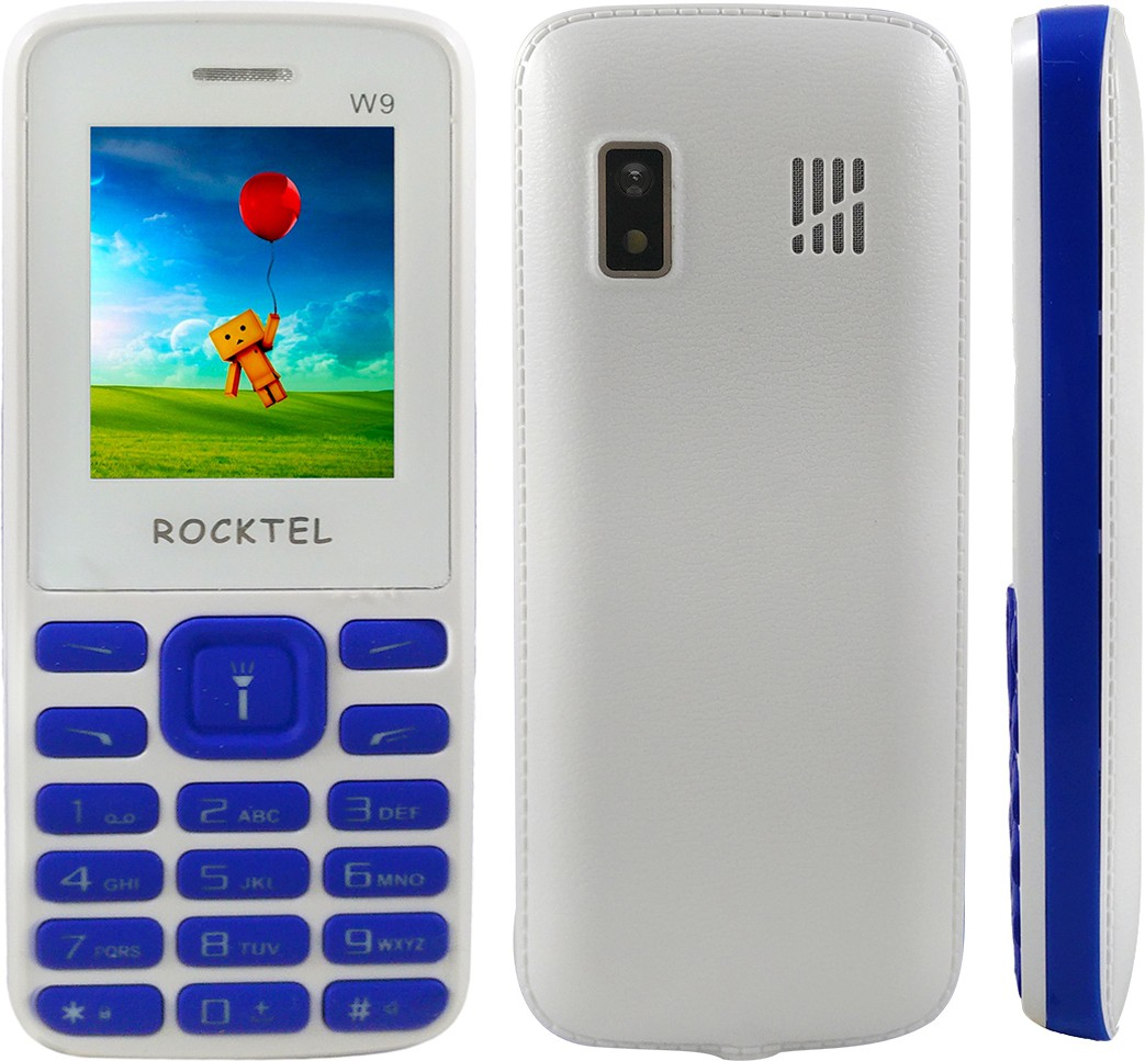 Rocktel W9(White, Blue)