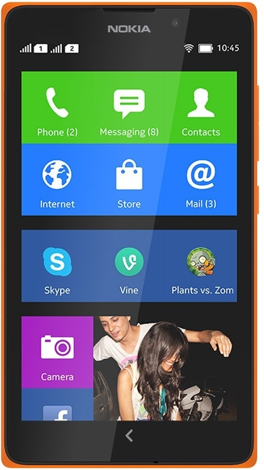 Nokia XL (Bright Orange, 4 GB)(768 MB RAM)