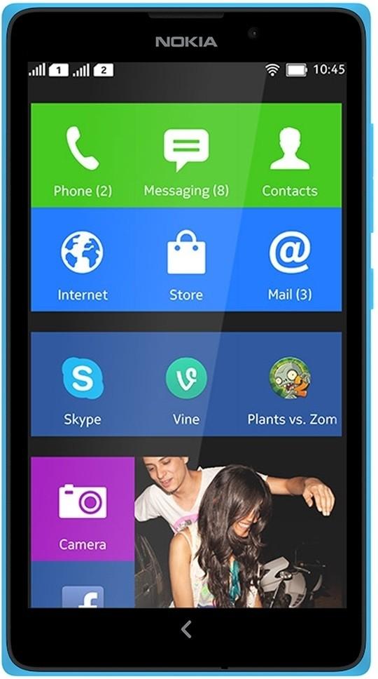 Nokia XL (Cyan, 4 GB)(768 MB RAM)