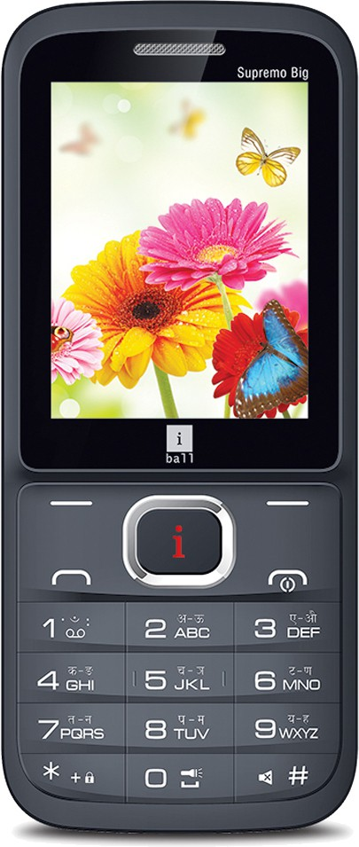 iBall Supremo Big 2.4D Dual Sim(Black, Gold)