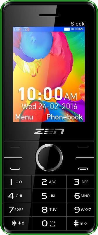 Zen Z10 Sleek(Black & Green)