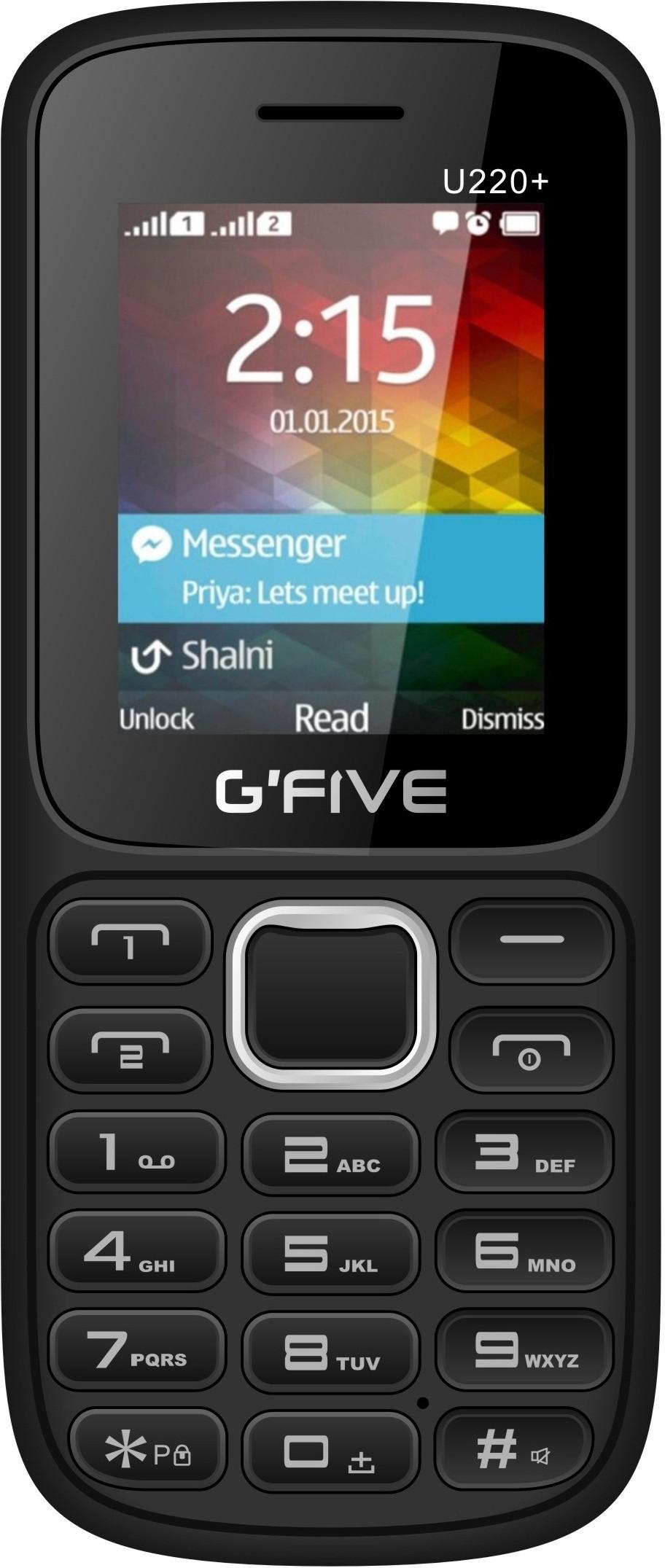 View Gfive U220+(Black & Blue)  Price Online
