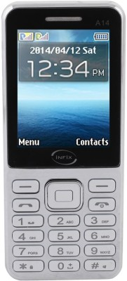 Infix A-14 Dual Sim Multimedia 2.4 Inches (White, 256 MB)