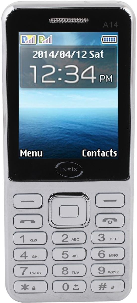 Infix A-14 Dual Sim Multimedia 2.4 Inches(White)
