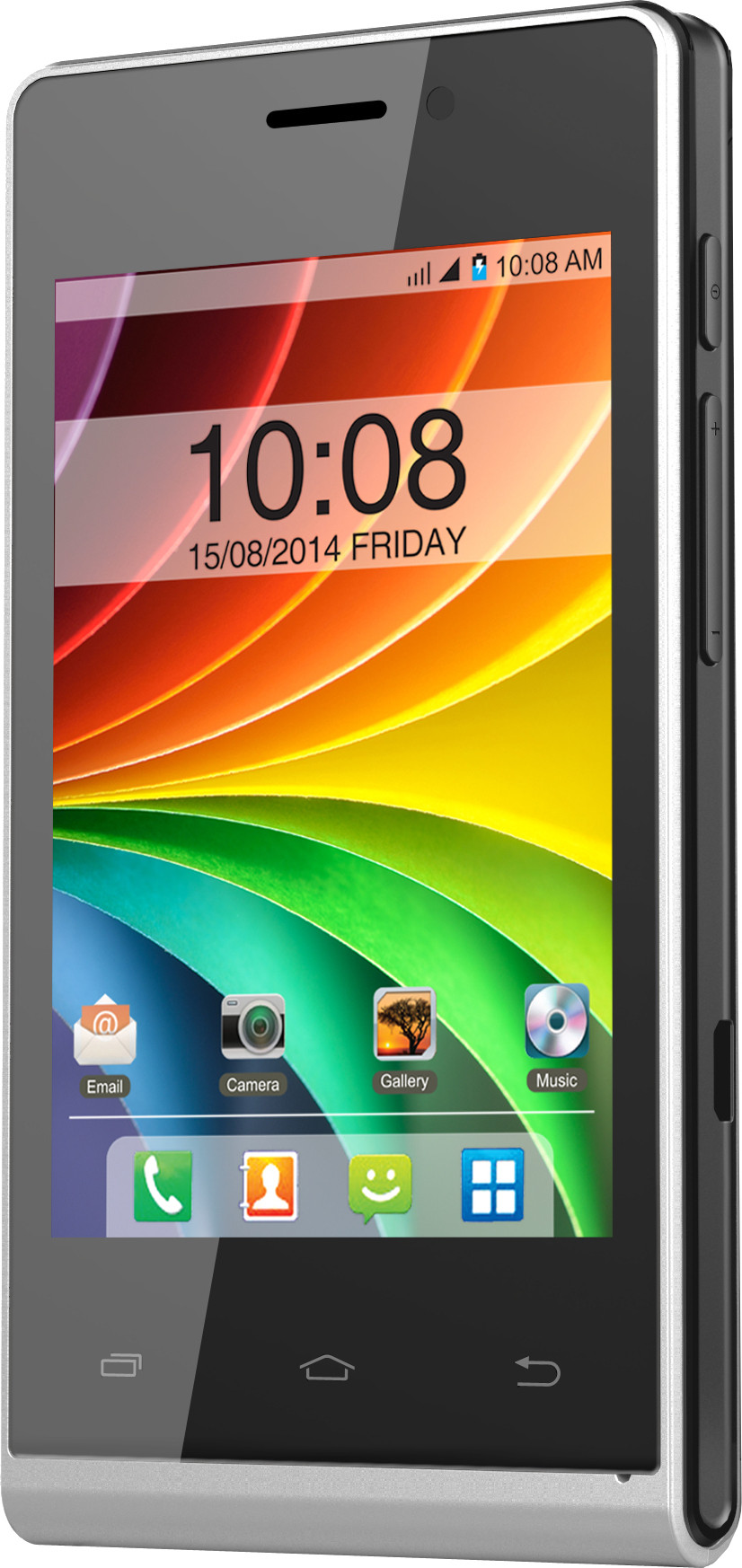 Intex Aqua V4 (Silver & Black, 512 MB)(256 MB RAM)