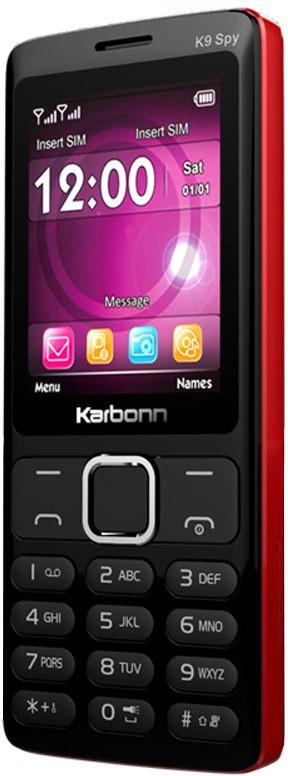 Karbonn K9 SPY(BLACK AND RED) image