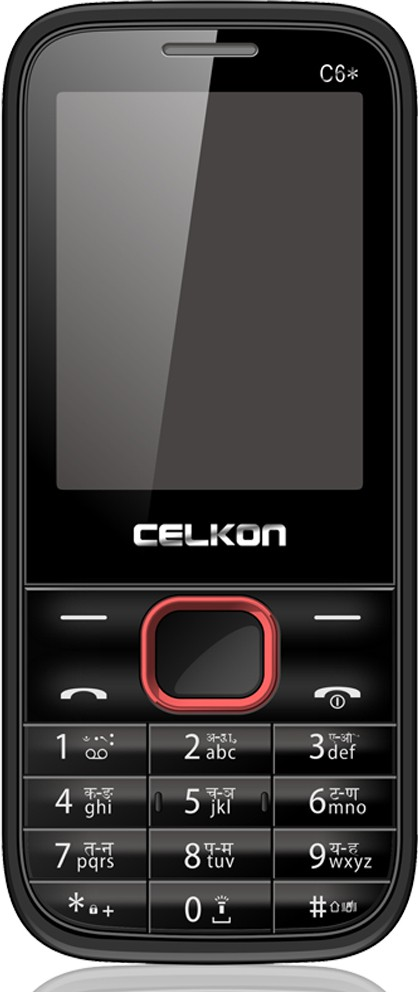 Celkon C6 star(Black & Red)
