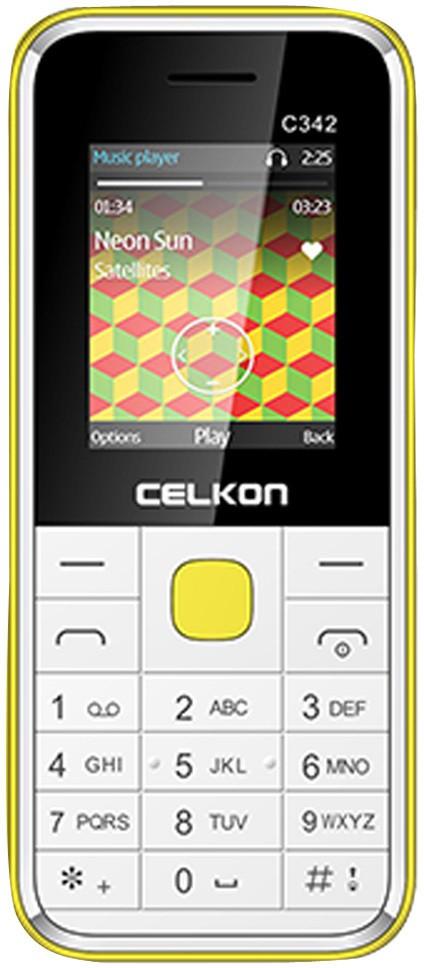 Celkon Dual Sim - White & Yellow