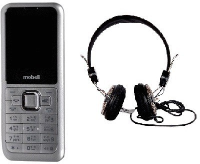Mobell MOBELL M320i with Envent Headphone (Silver, )