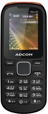 Adcom X5 Dual Sim Mobile-Black & Orange (Black, Orange, 16 MB)