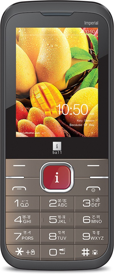iBall Imperial 2.4A Dual Sim - Coffee Brown