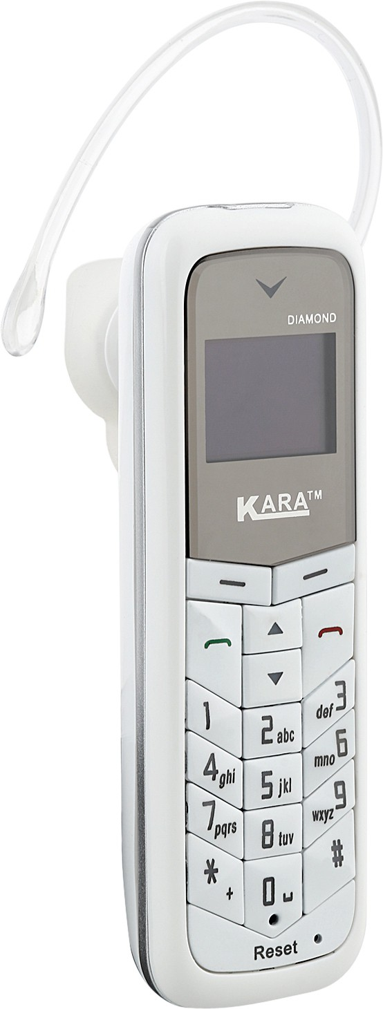 Kara Diamond (Mini Phone Cum Bluetooth Headset)(White)