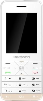 Karbonn K Phone 9 Dual Sim - White & Gold (Gold, 1 MB)