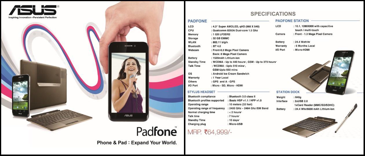 Asus Padfone A66 (1GB RAM, 32GB)