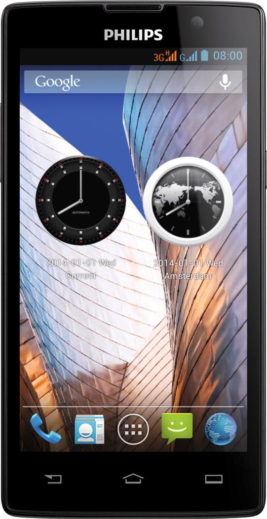 Philips W3500 (Black, 4 GB)(1 GB RAM)
