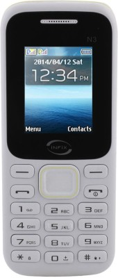 Infix N-3 Dual Sim Multimedia with Facebook (WhiteGreen, 256 MB)