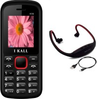 I Kall K55 with MP3 FM Player Neckband(Black & Red)