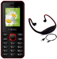 I Kall K66 with MP3 FM Player Neckband(Black & Red)