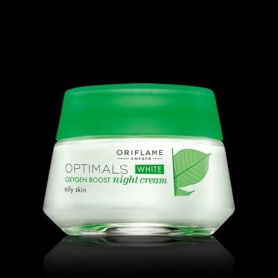 Optimals White Oxygen Boost Night Cream For Oily Skin