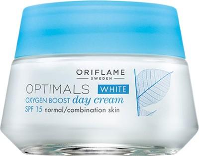 Oriflame Sweden OPTIMALS WHITE OXYGEN BOOST DAY CREAM SPF 15 NORMAL/COMBINATION SKIN(50 ml)