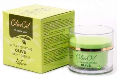 Bio Fresh Olive Oil Night Cream, Ultra Hydrating For Dry Skin