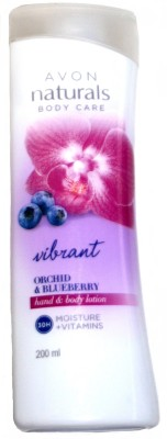 Avon Naturals Body Care Vibrant Orchid And Blueberry Hand And Body Lotion