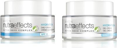Avon Nutraeffects Hydration Daily Cream SPF 15 (50g) + Gel Light Cream (50g)(100 g)