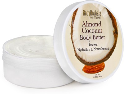 BodyHerbals Almond Coconut Body Butter, Intense Hydration & Nourishment (200gms)