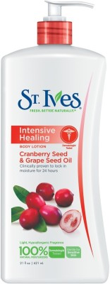 St. Ives Intensive Healing Body Lotion Cranberry Seed & Grape Seed Oil