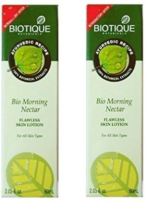 Biotique Morning Nectar Flawless Skin lotion,(Pack Of 2)