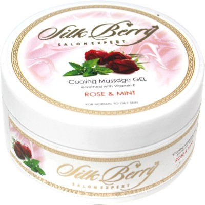 Silk Berry Rose and Mint Cooling Massage Gel