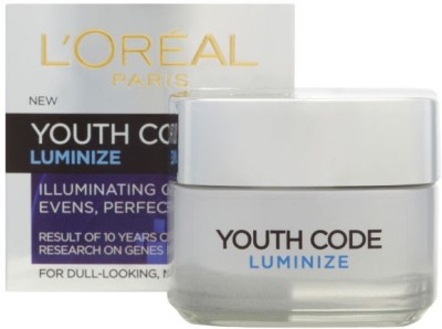 L,Oreal Paris Youth Code Luminize Illuminating Day Cream For Dull-Looking,Normal Skin
