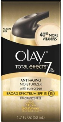 Olay Total Effects 7 In 1 Broad spectrum SPF 15 Fragrance Free Anti-Aging moisturizer With sunscreen