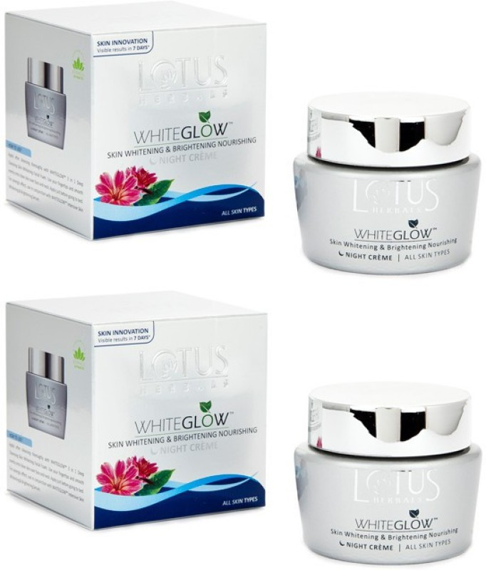 Lotus Herbals Whiteglow Skin Whitening & Brightening Nourishing Night Creme(120 g)