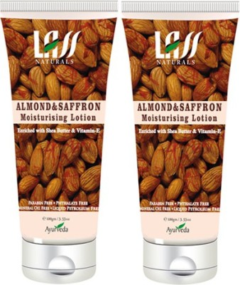 Lass Naturals Pack Of 2 Almond And Saffron Moisturising Lotion